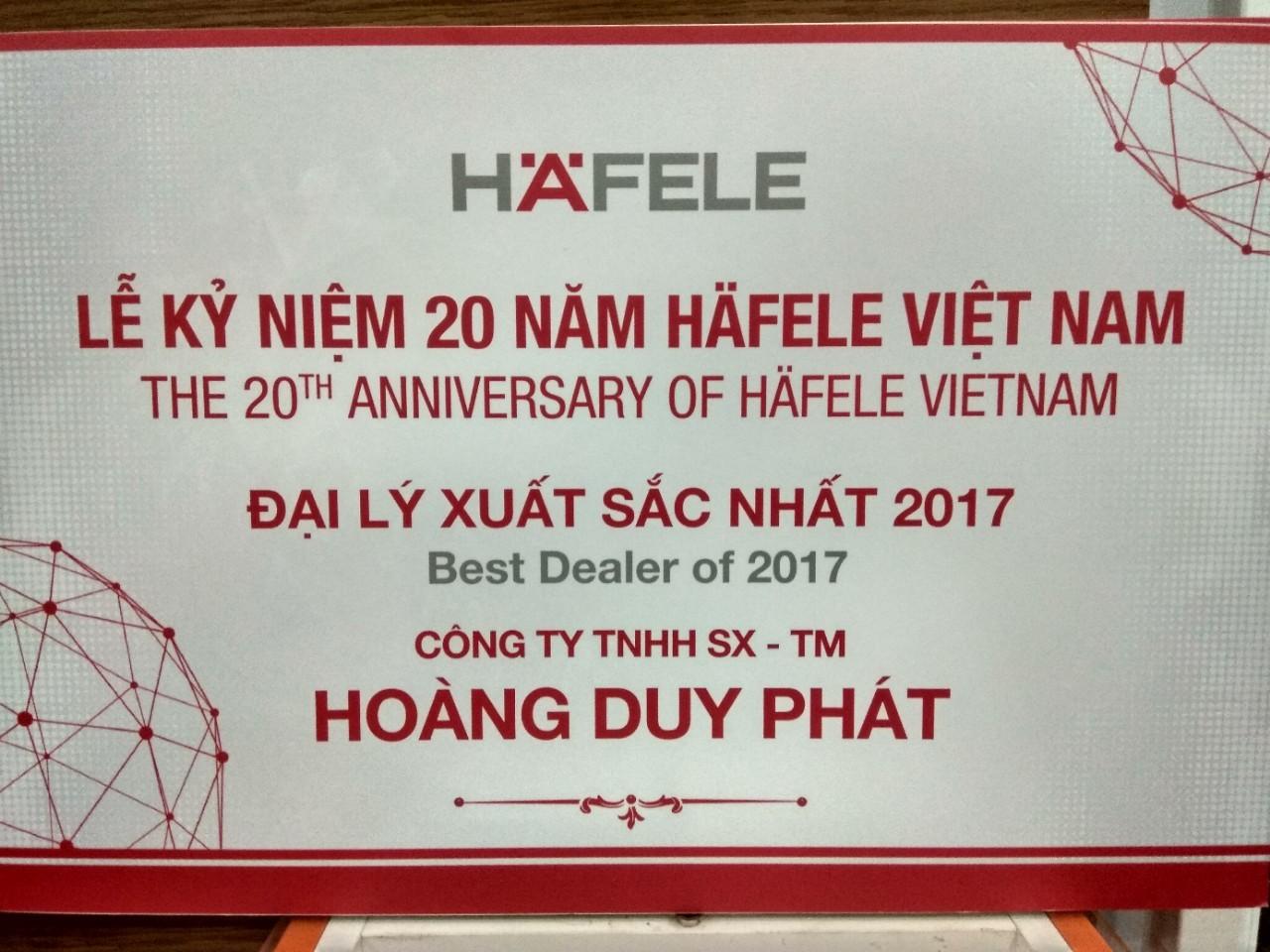 đại lý hafele xuất sắc 2017