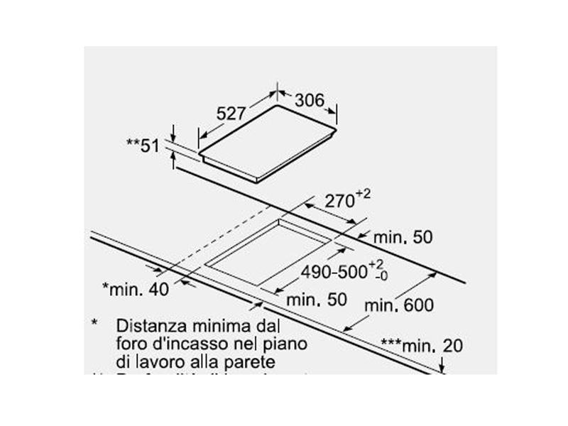 Bếp từ Bosch 2 vùng nấu PIB375FB1E 539.06.870