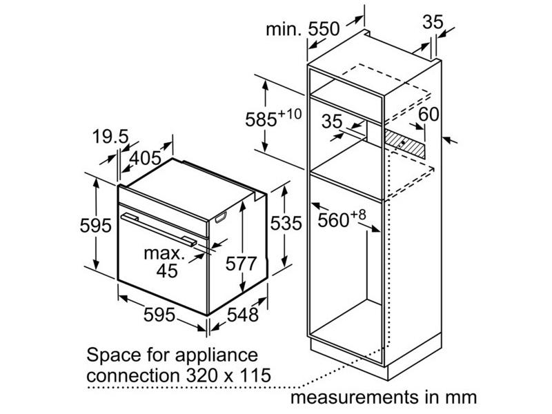 Lò nướng âm tủ Bosch HBG655HS1 539.06.241