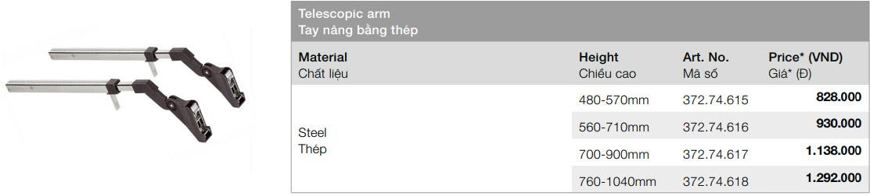cánh tay nâng aventos HF