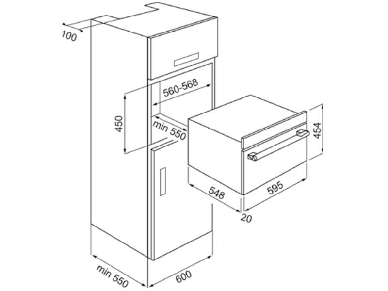 Lò vi sóng kết hợp nướng âm tủ Hafele Iconic HO-KT45B 535.02.731
