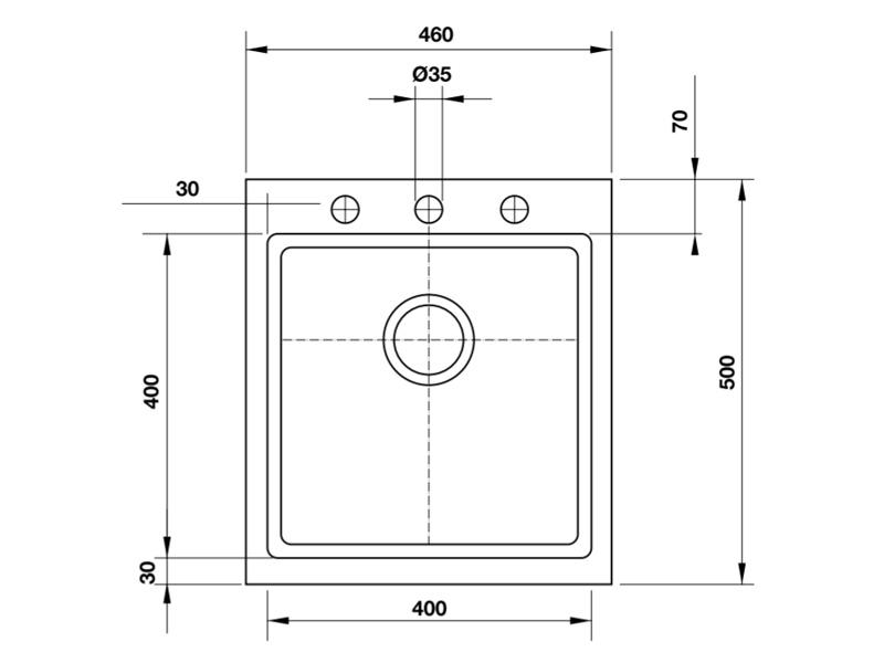 Chậu đá Hafele GRANTEC,1 hộc 50cm HS-G4650 565.84.361