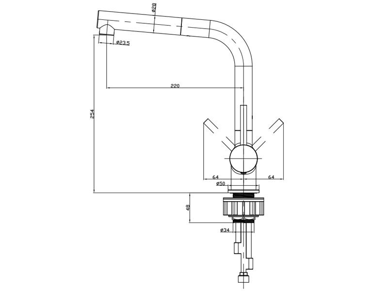 Vòi rửa chén Hafele HF-C240V 566.32.240