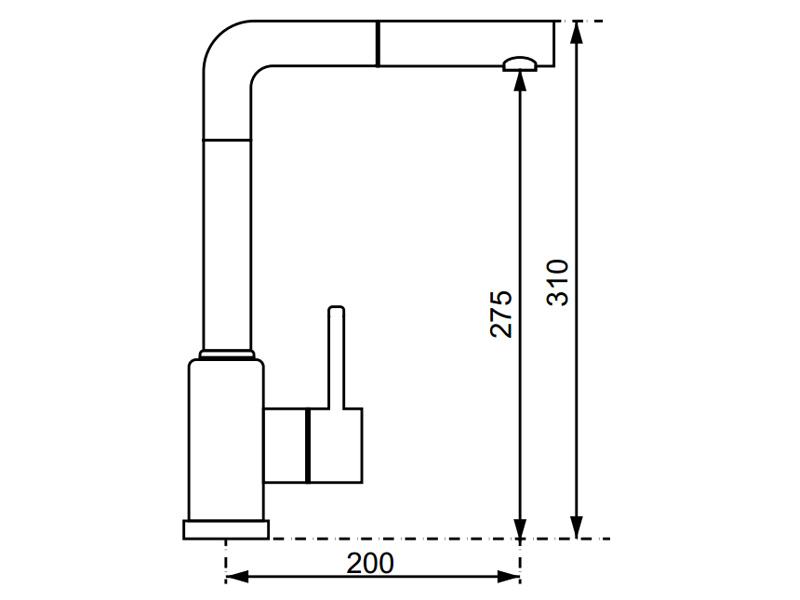 Vòi rửa chén Hafele HF-GM301 569.15.301