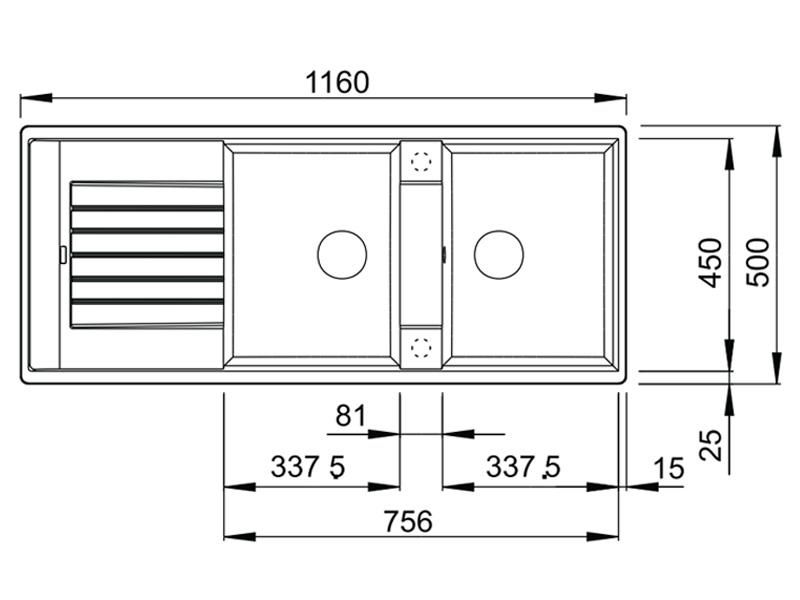 Chậu đá Blanco hộc tủ 80cm 565.76.950
