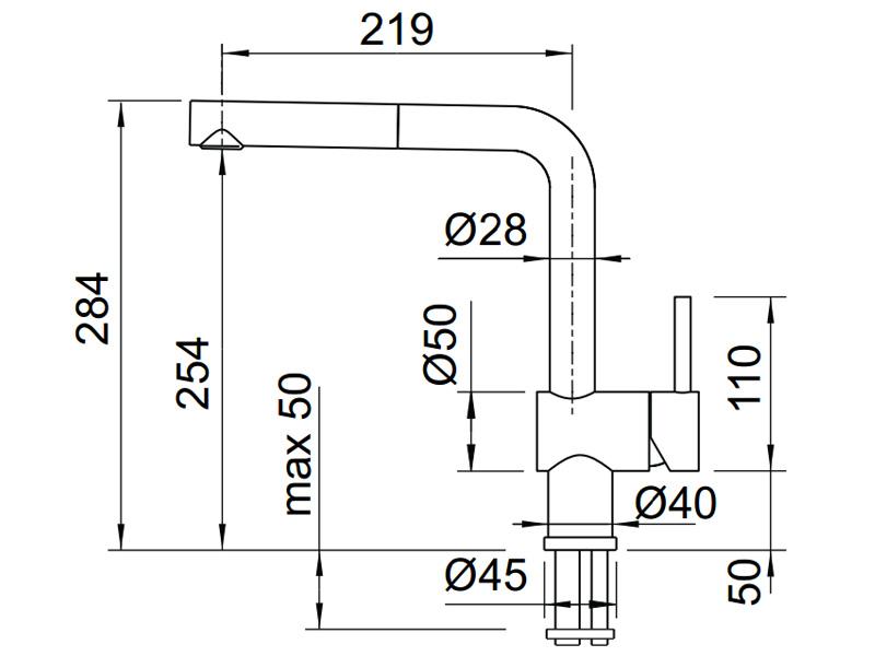 Vòi rửa chén BLANCOLINUS-S 565.68.350