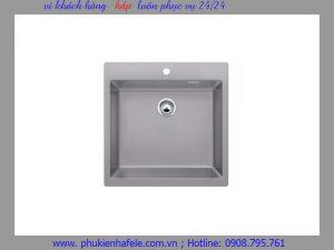 Chậu đá Hafele GRANTEC màu xám, 1 hộc 50cm HS-G4650 565.84.561
