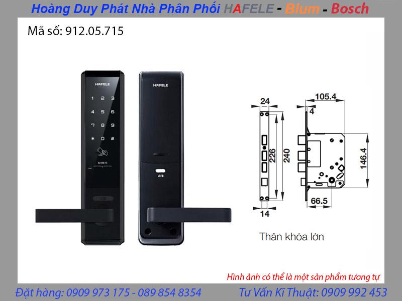 Khóa điện tử hafele EL7200 TC 912.05.715