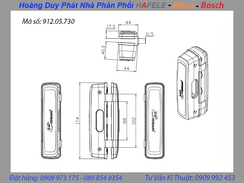 bas kẹp kính cho khóa điện tử hafele ER4400