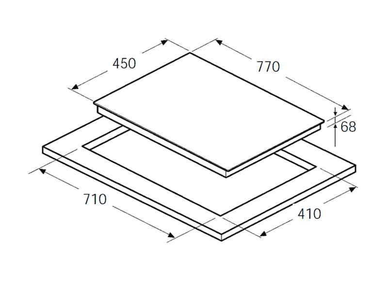 bản vẽ kỹ thuật bếp hafele 770mm
