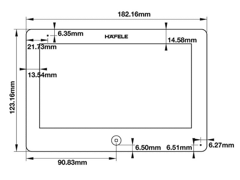 bản vẽ kỹ thuật màn hình điện tử hafele