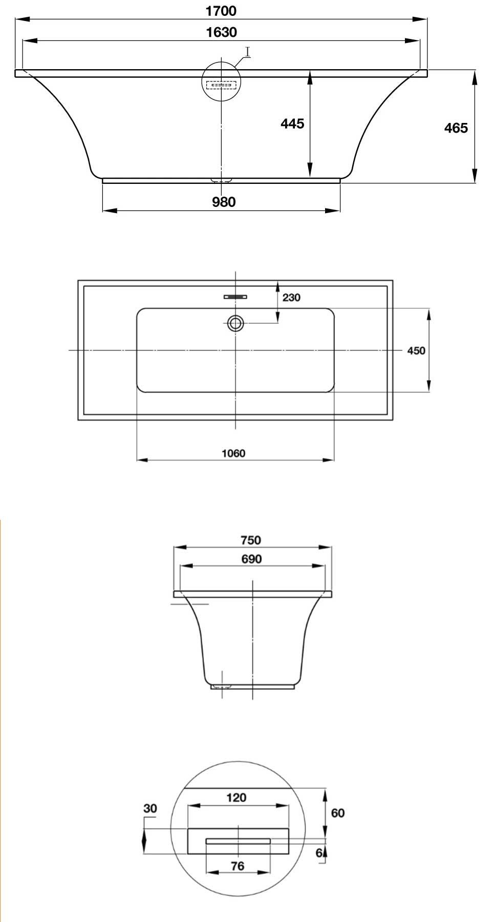 bản vẽ kỹ thuật bồn tắm hafele 588.55.681