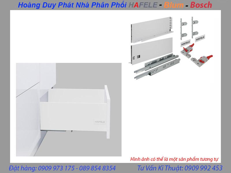 Ray hộp Hafele Alto S chiều cao 170mm màu trắng